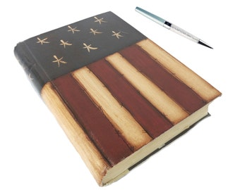 American Flag Notebook - Graduation Gifts - American Flag Journal -  American Flag Wedding Guest Book - Gifts For Her - American Flag Diary