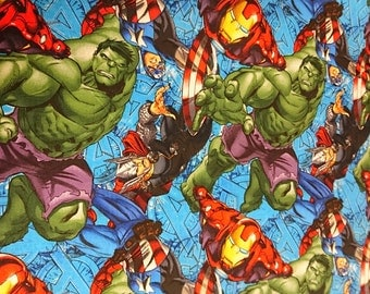 Marvel Fabric, Comic Book and Large Characters Hulk, Thor, Captain America