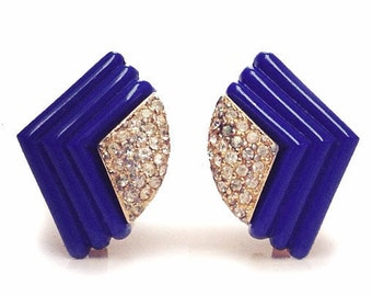 Christian Dior  Art Deco Style Clip Earrings
