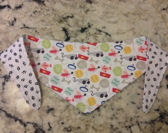 Tie-on Cat Bandana - All About Cat - XXSmall or XSmall