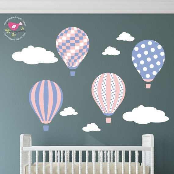 Balloon decal wall stickers for girls baby room decor for Baby room decoration uk