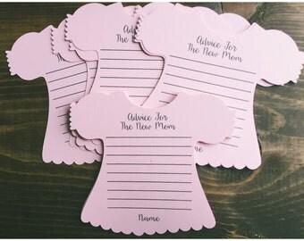 New mom advice card, advice for the new mom, advice cards, baby shower game, baby shower advice, baby shower, advice new parent