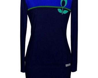 Iza Fabian-Sweat-navy dress