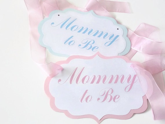 mommy to be chair signs boy girl baby shower chair signs mom to be