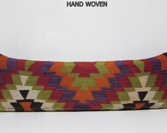 16x48 decorating lumbar pillow case century kilim pillow sham kilim throw pillow cover ottoman decorative cushion cover turkish pillow 381
