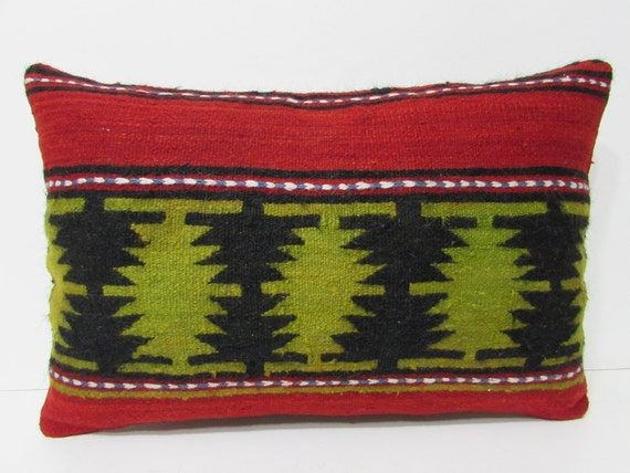 decorative pillow 16x24 chair pillow case kilim pillow easter pillow