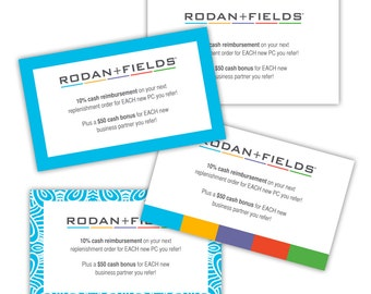 Rodan Fields Referral Rewards Business Card Back