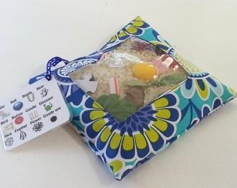 SALE!! I Spy Bag - Blue Flowers