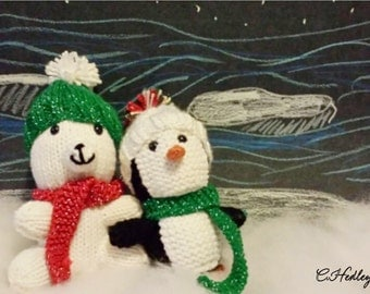 Holiday Knitted Plush Animals