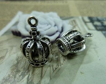 10pcs 10x13x20mm Antique Bronze Antique Silver Silver Crown Charms Pendants AH1328