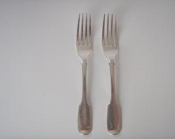 Antique Georgian Sterling Silver Forks