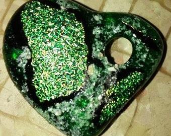 Memorial Cremation Dichroic Cast Heart