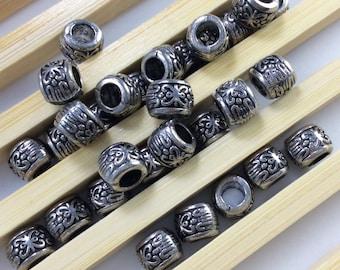 30 pcs (6mmx8mm)Tibetan Beads  Diy Findings supplies