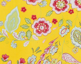 Dena Fishbein Little Things Emma Stoff Free spirit pink yellow 0,5 m pure Cotton