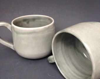 Grey Celadon Porcelain Mugs
