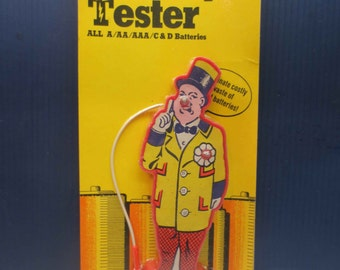Vintage 1974 WC Fields Red Nose Battery Tester American Noveltronics Corporation NOS