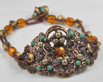 Bohemian Treasure bracelet PDF pattern instant download