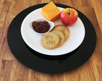Black Acrylic Lazy Susan - Turntable Plate