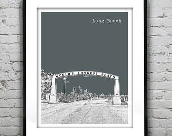 Long Beach Washington Art Print Poster WA