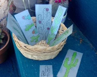 Assorted Cactus Bookmarks