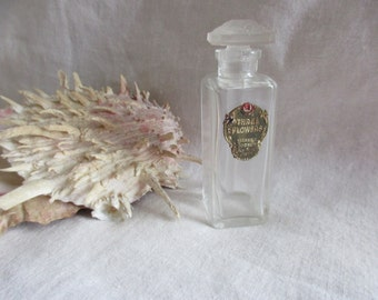 Vintage THREE FLOWERS by Richard Hudnut Perfume Bottle