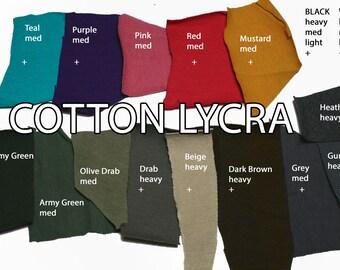 Cotton Lycra Color Options