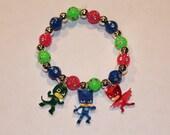 Custom Disney Jr. PJ Masks Charm Bracelet