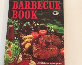 Vintage Better Homes & Gardens Barbecue Book 1965 ~ Retro Cook Book ~ Mad Men Era