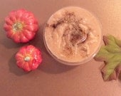 Pumpkin Sugar Scrub - with Pumpkin Flakes and Pumpkin Powder - 3 Butter Scrub Shea Butter, Mango Butter and Cocoa Butter