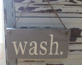 Wash & Dry Signs