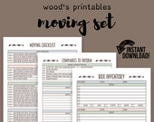 Moving Planner Set; Moving Checklist, Moving Away, New Home, Planner Kit, Planner Binder, Move, Moving Organizer, House Checklist