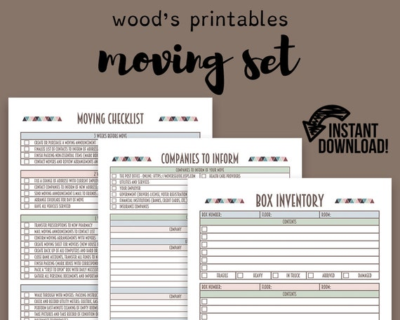 moving planner set moving checklist moving away new home