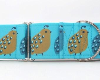Quail Trail Dog Collar (Martingale, Buckle or Tag)