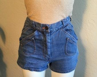 70s Denim Hot Shorts