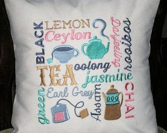 Pillow Cover-Tea Pillow Cover -Cotton Pillow Cover