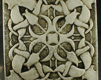 Tulip tile, Pamir tulips, backsplash tile, fireplace tile, art tile, wall hanging, room decor, home decor, ceramic art, handmade tile