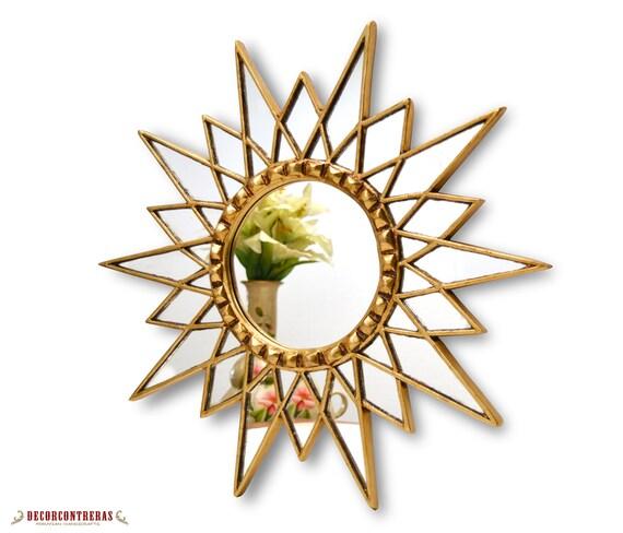 """Mirrored Star Wall Decor: Starburt Mirror 23.6""""- Peruvian Decorative Wall Mirror"""