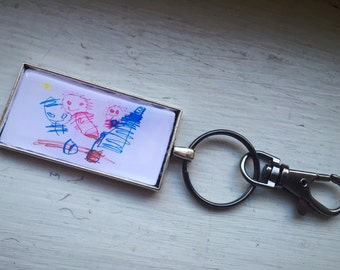 CUSTOM keychain made from your Child's Artwork