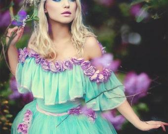 Sample Sale! Fantasy dress romantic fairytale boho chic