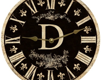 Monogram Clock- Personalized Monogram Clock