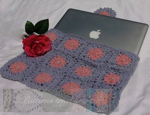 Computer Bag for Mac Pro Crochet Pattern Ipad sleeve Cell