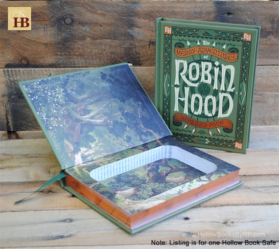 Book Safe - Robin Hood - Leather Bound Hollow Book Safe