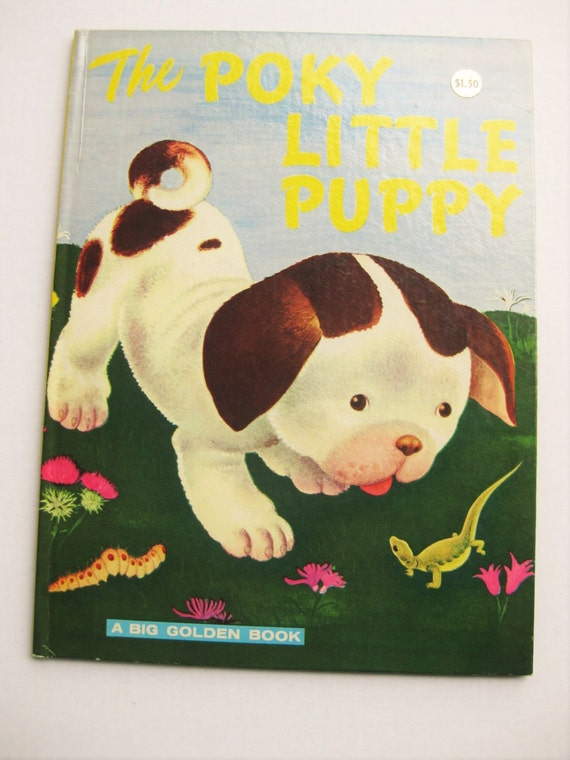 The Poky Little Puppy. Big Golden Book. 1976 edition. Kids classics. Gustaf Tenggren. Janette Lowrey. Baby shower gift. Animal stories