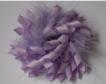 20% off Lt Orchid - Feather Korker Mix Hair Clip