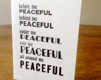 Letterpress Words of Wisdom Greetings card