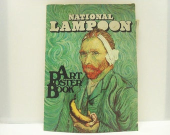 1975 National Lampoon Book / Art poster Book With Color Illustrations