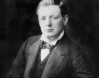 Winston Churchill, Portrait, Photo Print