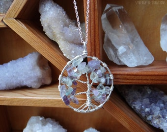 Fluorite Tree of Life Necklace