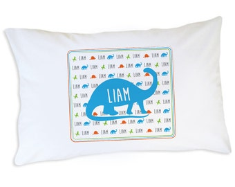 Dinosaur Gift, Dinosaur Pillow Case, Dinosaur Bedding For Boys