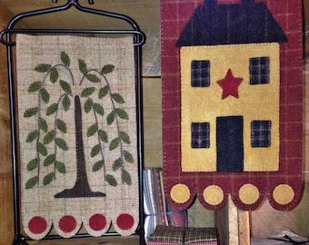 Home & Garden Wool Applique Banners